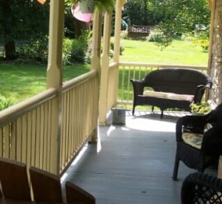porch with furniture