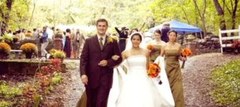 bride, groom and party