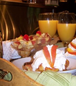 orange juice and breakfast